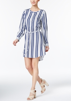 Two by Vince Striped High-Low Shirtdress