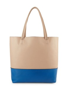 Vince Camuto Two-Tone Leather Tote