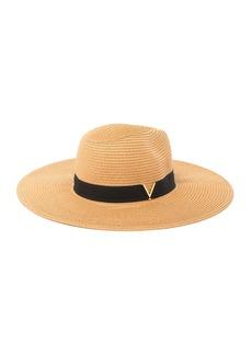 Vince Camuto V Grossgrain Panama Hat