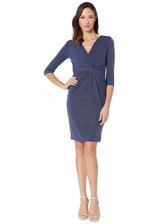 Vince Camuto V-Neck 3/4 Sleeve Dress