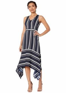 Vince Camuto V-Neck High-Low Dress