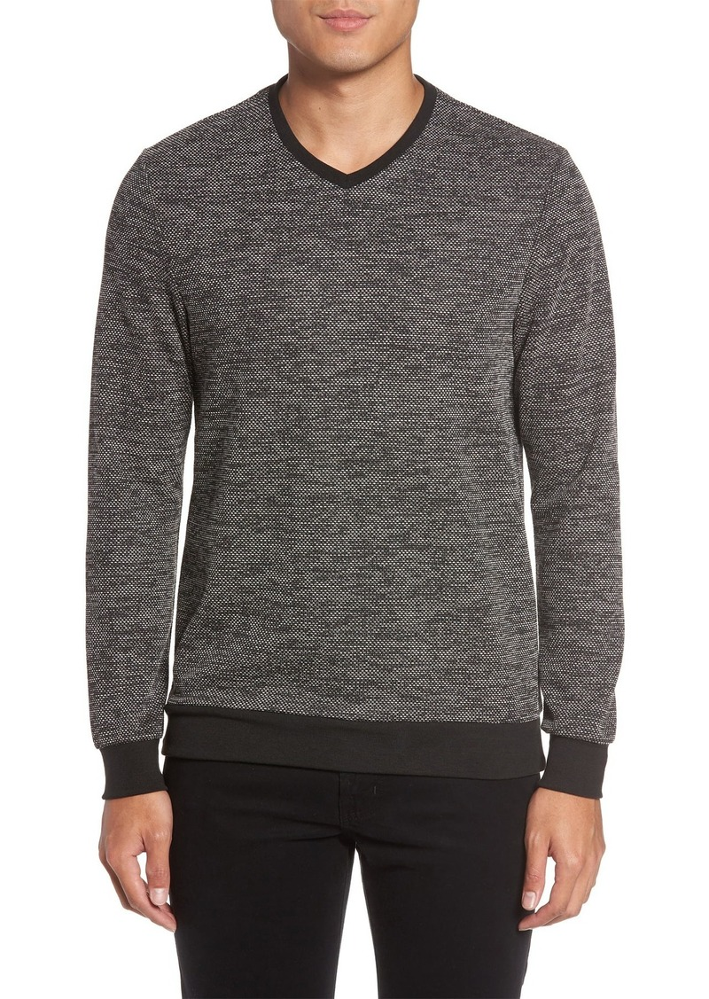 Vince Camuto V-Neck Mixed Yarn Pullover Sweater
