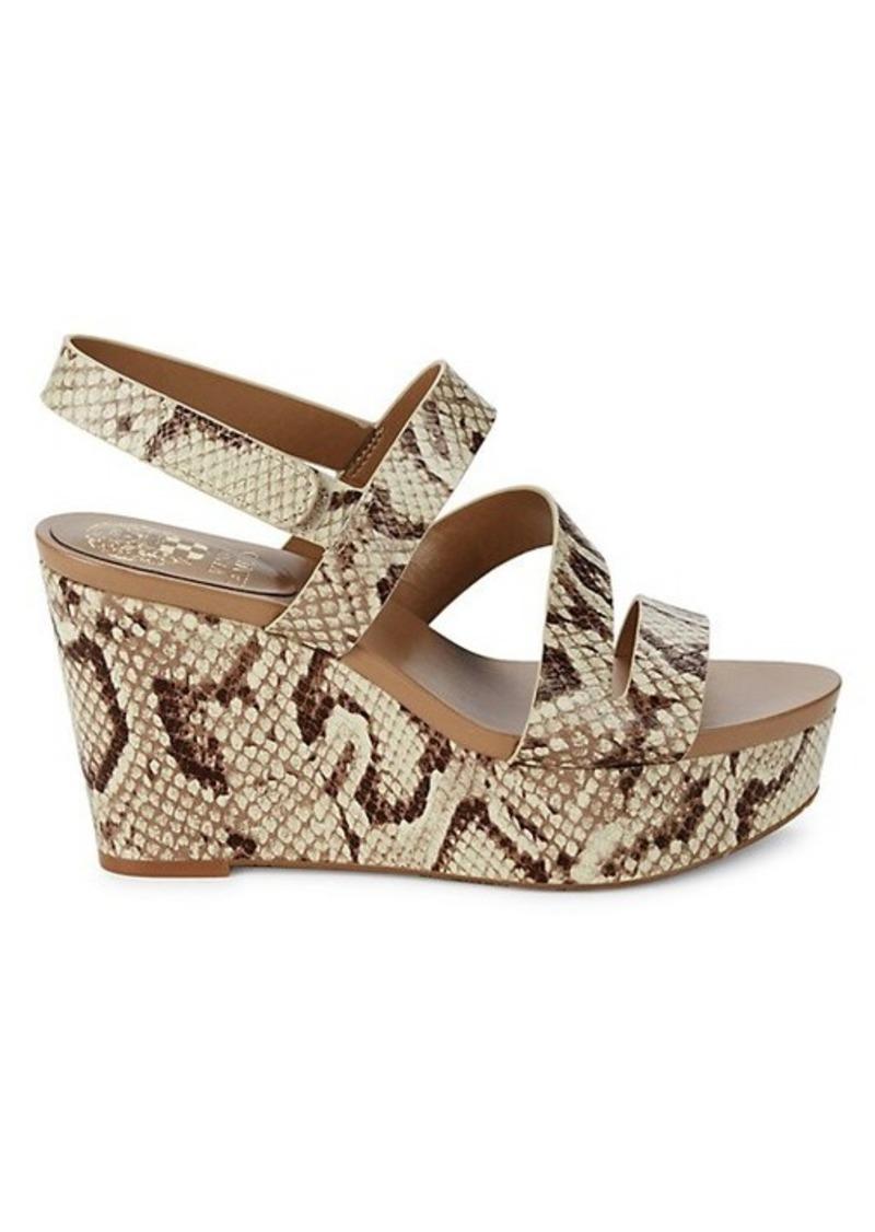 Vince Camuto Velley Suede Platform Wedge Sandals.