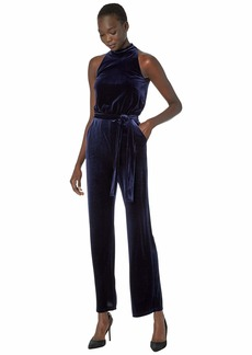 Vince Camuto Velvet High Neck Jumpsuit