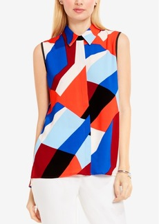 Vince Camuto Vince Camtuo Printed High-Low Blouse
