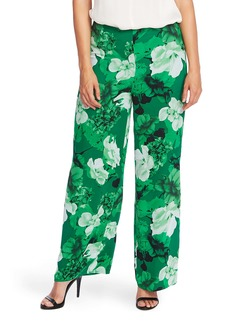 Vince Camuto Vince Camtuo Watercolor Melody Floral Wide Leg Trousers