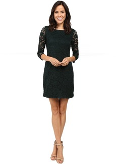 3/4 Length Shift Dress w/ Shirt Tail Hem