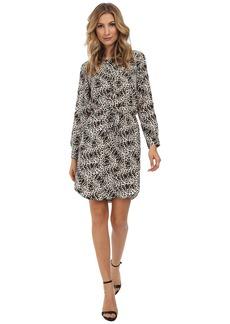 Vince Camuto 3/4 Sleeve Animal Legacy Drawstring Dress