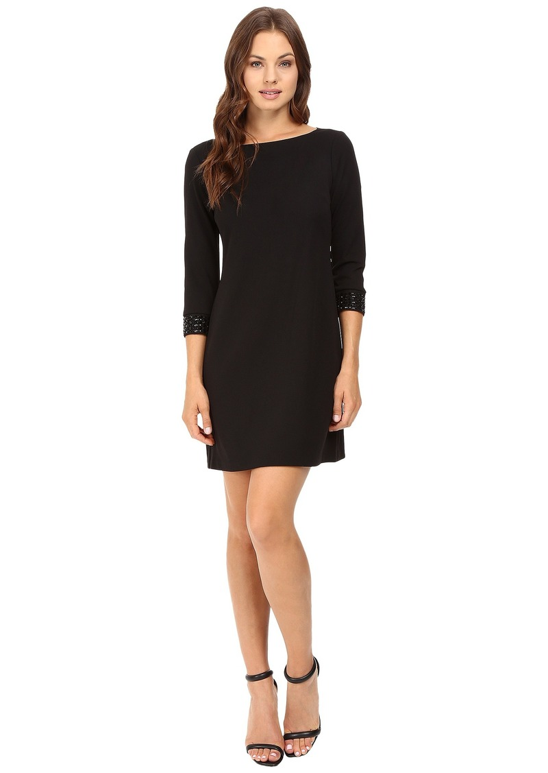 Vince Camuto 3/4 Sleeve Shift Dress with Embellished Cuffs