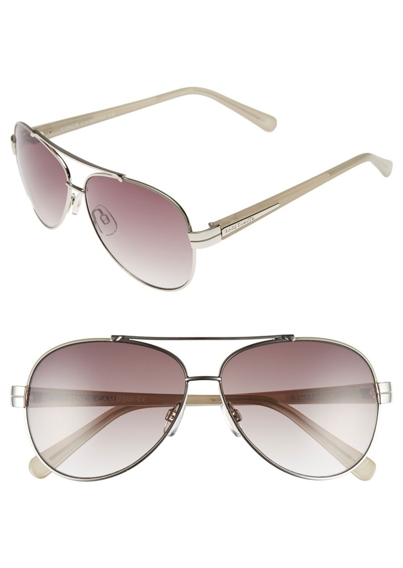 Vince Camuto 59mm Aviator Sunglasses