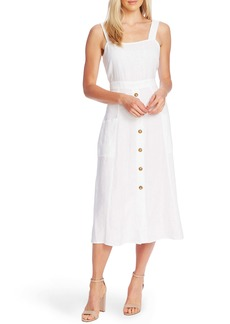 Vince Camuto A-Line Sleeveless Linen Dress