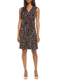 Vince Camuto Abstractions Print Wrap Dress