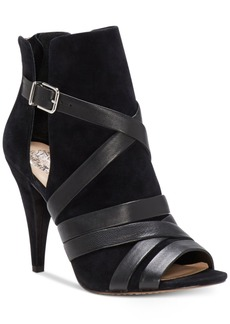 Vince Camuto Achika Peep-Toe Booties Women's Shoes