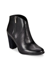 Vince Camuto Almond Toe Leather Ankle Boots