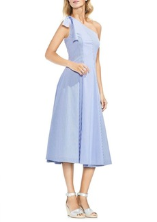 Vince Camuto Amalfi Breeze Stripe One-Shoulder A-Line Dress
