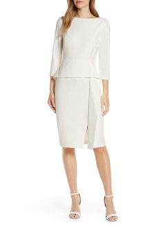 Vince Camuto Angled Ruffle Sheath Dress (Regular & Petite)
