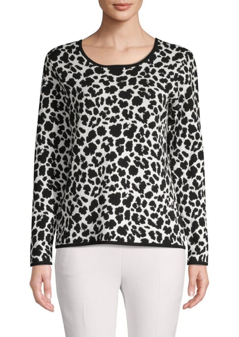 Vince Camuto Animal Jacquard Sweater