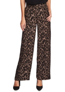 Vince Camuto Animal Phrases Leopard Print Wide-Leg Pants