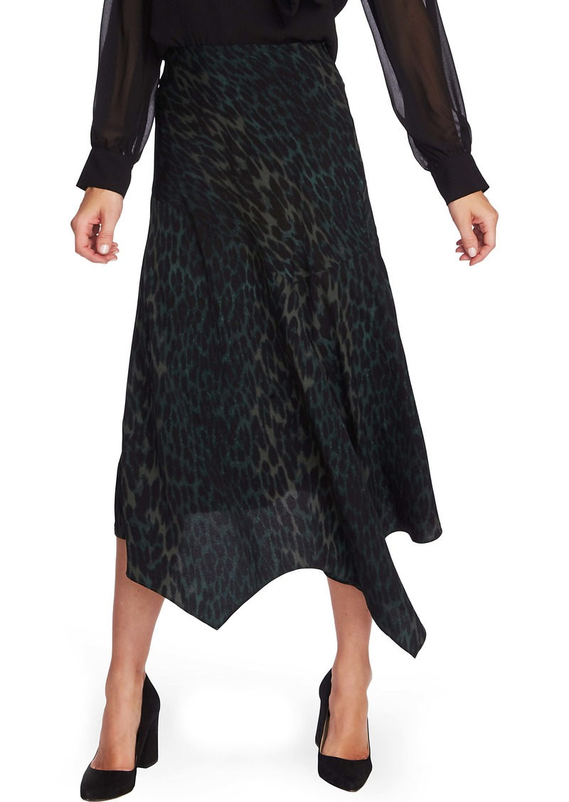 Vince Camuto Animal Print Asymmetrical Hem Skirt