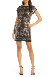 Vince Camuto Animal Print Minidress