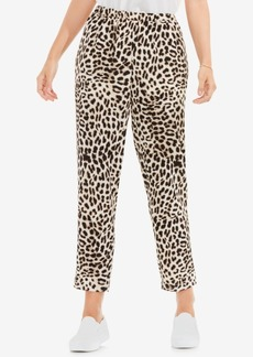 Vince Camuto Animal-Print Pull-On Pants