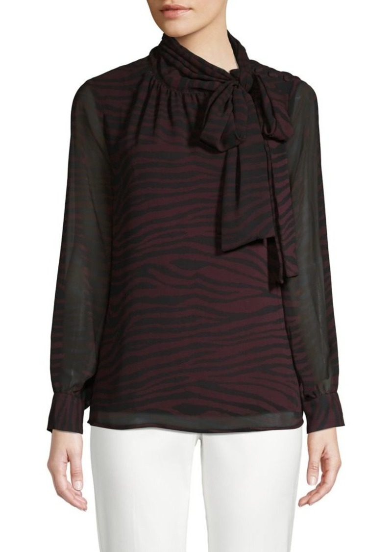 Vince Camuto Animal-Print Self-Tie Blouse