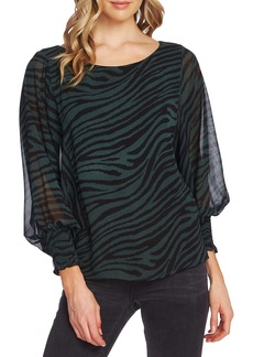 Vince Camuto Animal Stripe Batwing Sleeve Top