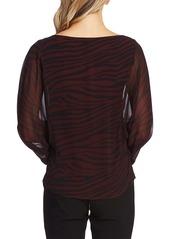 Vince Camuto Animal Stripe Batwing Sleeve Top