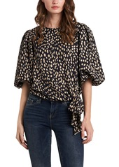 Vince Camuto Animal Tie Blouse
