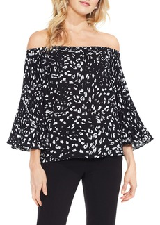 Vince Camuto Animal Whispers Bell Sleeve Blouse