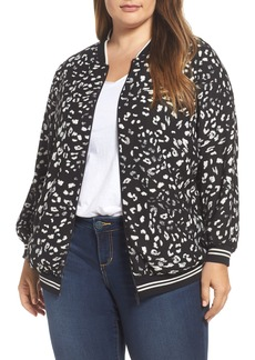 Vince Camuto Animal Whispers Bomber Jacket (Plus Size)