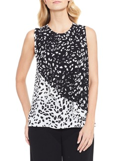 Vince Camuto Animal Whispers Colorblock Blouse