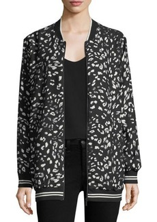 Vince Camuto Animal Whispers Zip-Front Bomber Jacket