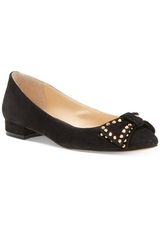 Vince Camuto Annaley Studded Ballet Bow Flats Women's Shoes