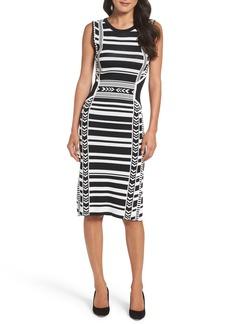 Vince Camuto Artwork Body-Con Dress (Regular & Petite)