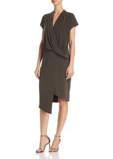 VINCE CAMUTO Asymmetric Drape-Front Dress