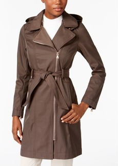 Vince Camuto Hooded Asymmetrical Raincoat, A Macy's Exclusive