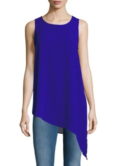 Vince Camuto Asymmetrical Buckle Back Tank Top
