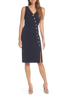 Vince Camuto Asymmetrical Button Front Dress