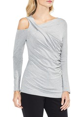 Vince Camuto Asymmetrical Cold Shoulder Twist Front Top