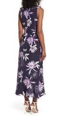Vince Camuto Asymmetrical Faux Wrap Midi Dress