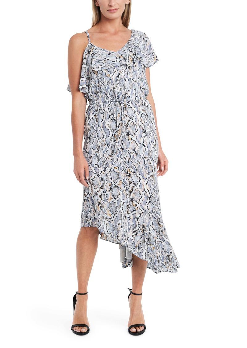 Vince Camuto Asymmetrical Flutter Georgette Dress