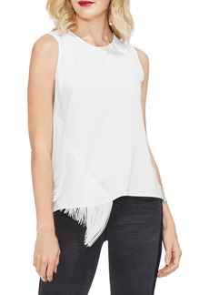Vince Camuto Asymmetrical Fringe Front Tank Top
