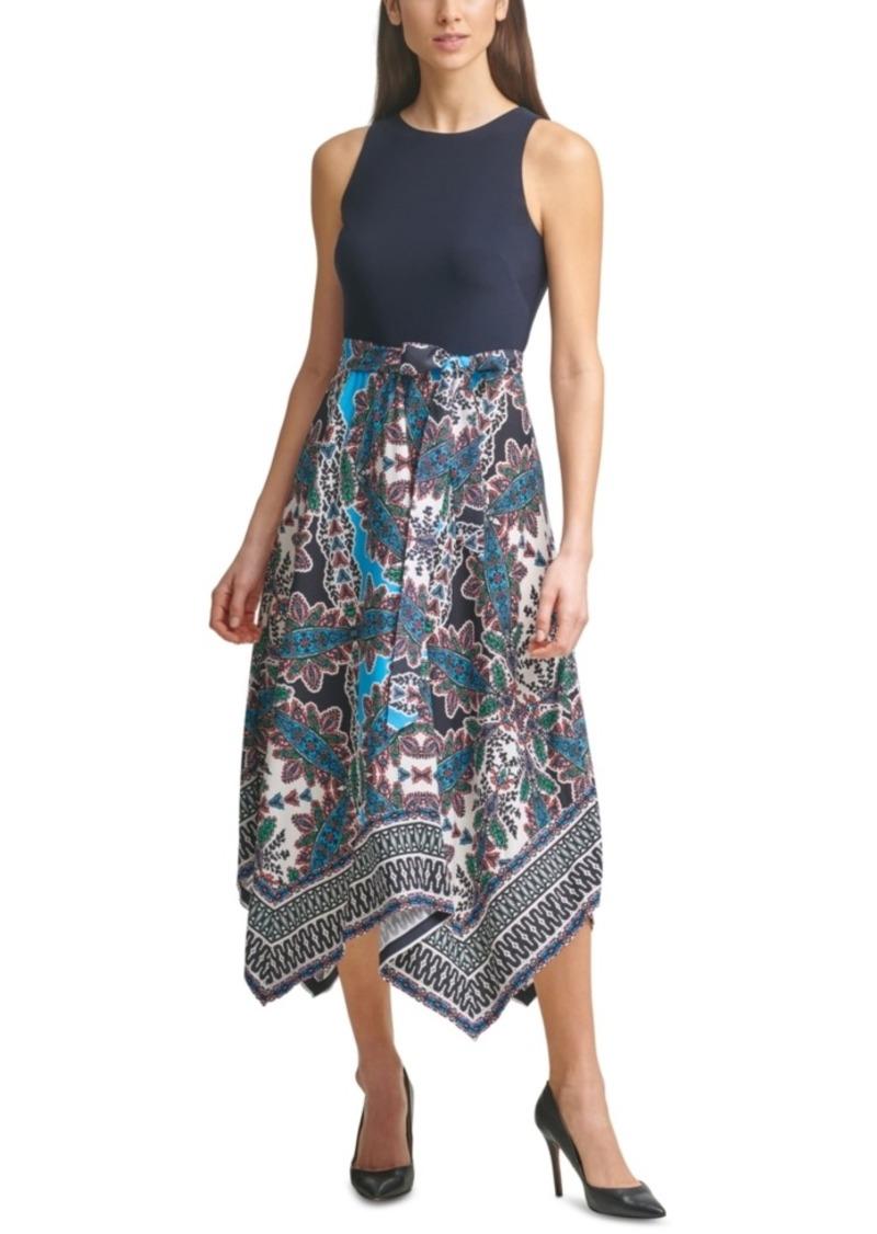 Vince Camuto Asymmetrical-Hem Midi Dress