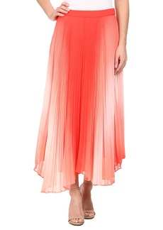 Vince Camuto Asymmetrical Hem Pleated Midi Skirt