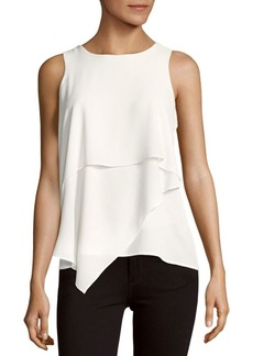 Vince Camuto Asymmetrical Layered Blouse