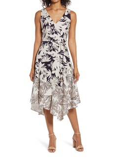 Vince Camuto Asymmetrical Linen Blend Dress