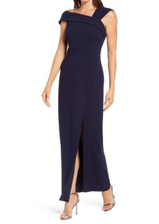Vince Camuto Asymmetrical Neck Gown
