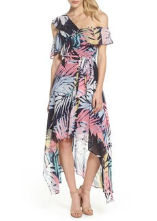 Vince Camuto Asymmetrical Neck Maxi Dress