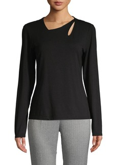 Vince Camuto Asymmetrical Neck Stretch Top